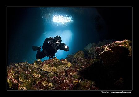 Cave on the Island Korcula. by Dejan Sarman