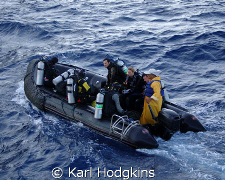 Choppy or not diving is on! by Karl Hodgkins