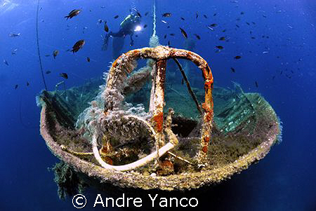 A popular wreck in the Aegean sea off the coast of Cesme ... by Andre Yanco 