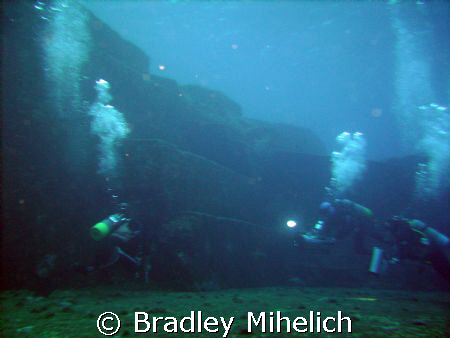 Iseki underwater ruins off Yonaguni jima.  Whether these ... by Bradley Mihelich