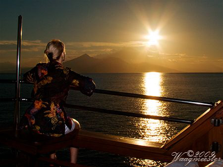 'Sunset Over Bali' on a live-aboard to Komodo (Canon G9, ... by Marco Waagmeester