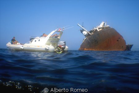 During our boat raid Sicily-Tunisia, near Biserta city  w... by Alberto Romeo