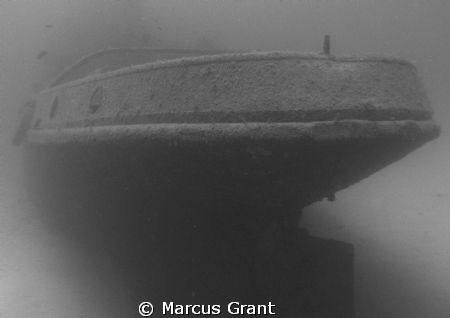 The Stern of the Rozi Tug Boat at Cirkewwa, malta. by Marcus Grant