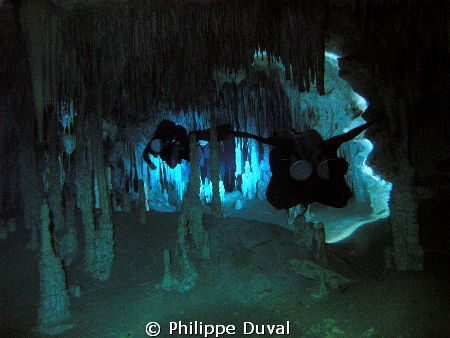 Nice fullcave in chan hol tulum. Mexico by Philippe Duval