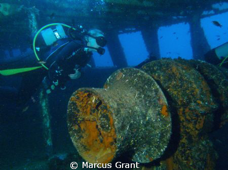 Taken on the wreck of MV Kawella. by Marcus Grant