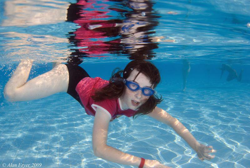 Hannah in the pool at Hilton Sharks Bay Nikon D80 Tokina... by Alan Fryer