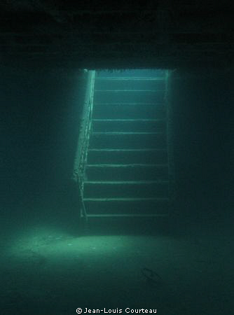 """""""Stairway To Heaven"""" - The main stairway on the sunken """"A... by Jean-Louis Courteau"""
