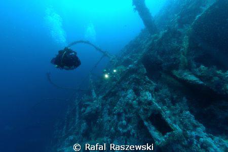 """Brother Islands, """"Numidia"""" wreck.May 2007. by Rafal Raszewski"""