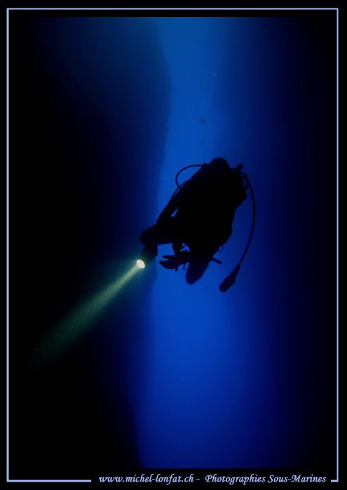 Diving the Inland Sea - in Gozo Malta... Que du bonheur..... by Michel Lonfat