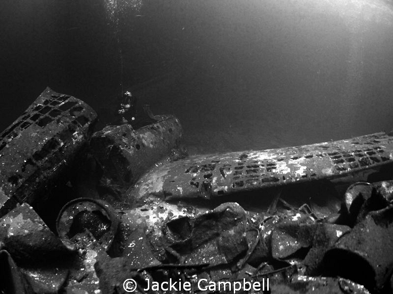 Zeros in the cargo hold of the Fujikawa Maru.