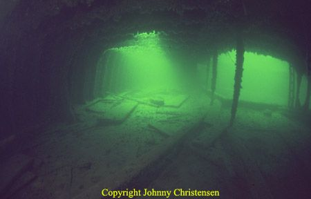 Inside the wreck of SS Director Reppenhagen. Long exposur... by Johnny Christensen