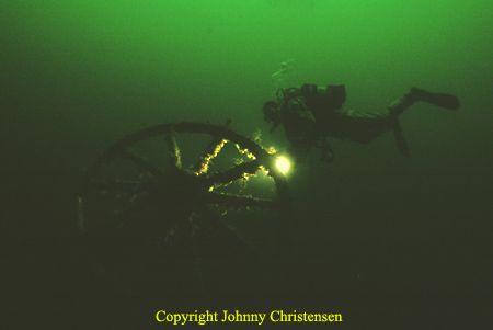 In the norwegian Flekkefjord, the wreck of Gudrun still h... by Johnny Christensen