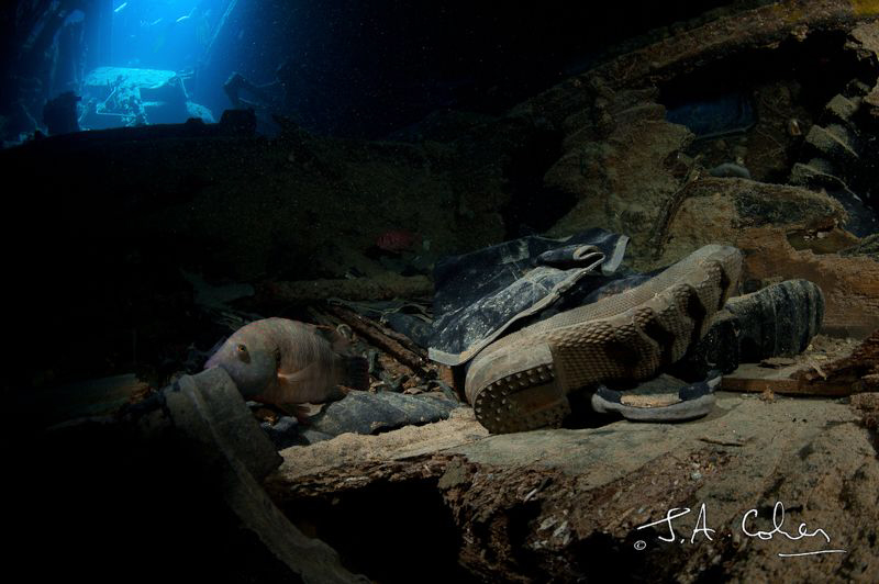 Boot on the Thistlegorm Wreck by Julian Cohen