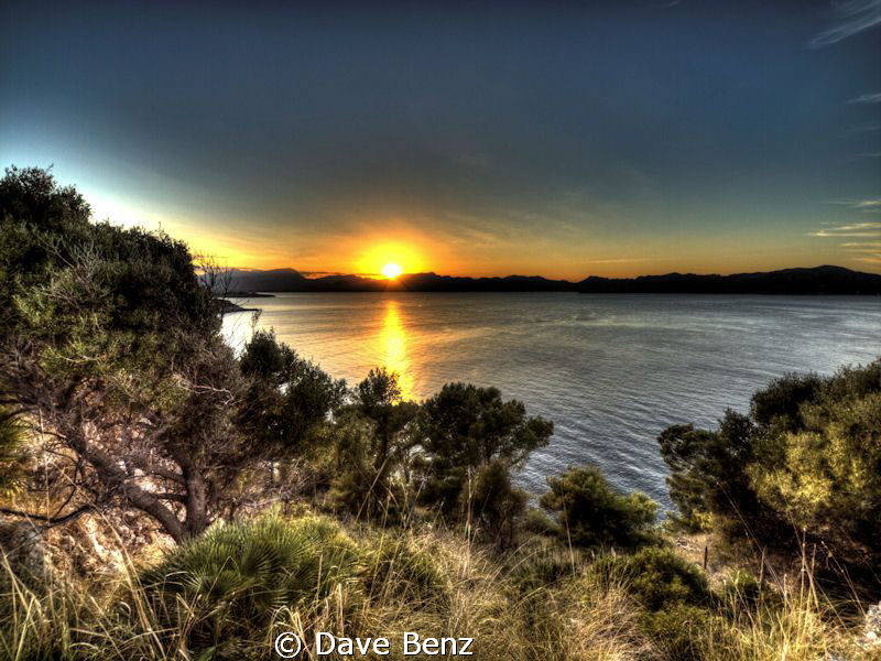 Sunset at Alcudia, Spain. by Dave Benz
