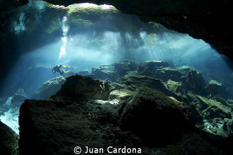 chac mool cenote big brother... by Juan Cardona