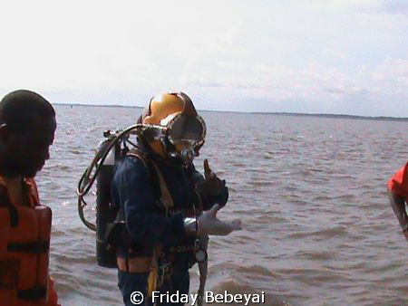 superlite 17, used in underwater both communication and v... by Friday Bebeyai