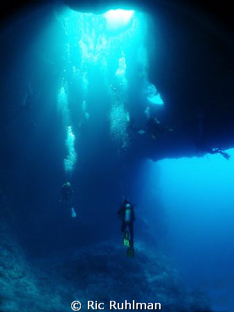 "Blue Holes in Palau  Several of my ""Fun Junkies"" enjoying... by Ric Ruhlman"