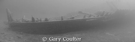 Panorama of the 175' James C. King near Tobermory, Ontari... by Gary Coulter