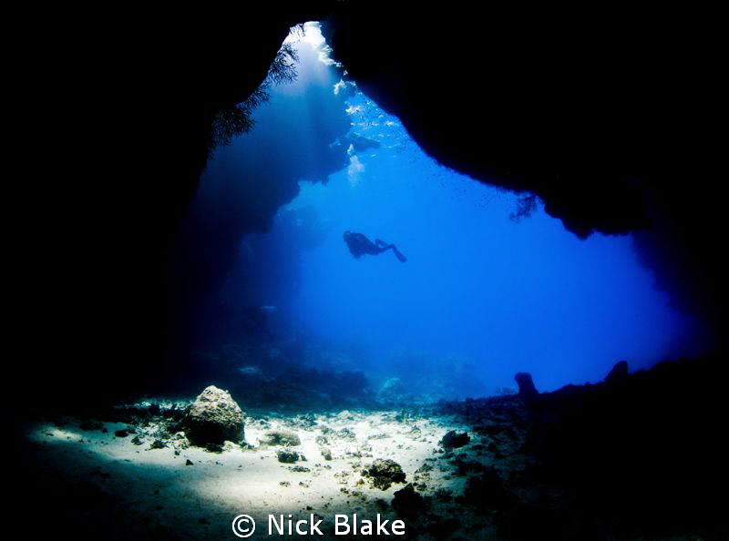 The Caves of St Johns, Red Sea. Nikon D300 & Tokina 10-17mm by Nick Blake