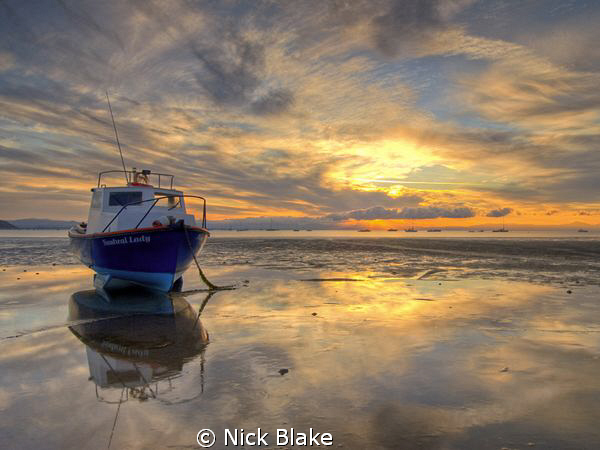 Sunrise at Abersoch, North Wales by Nick Blake