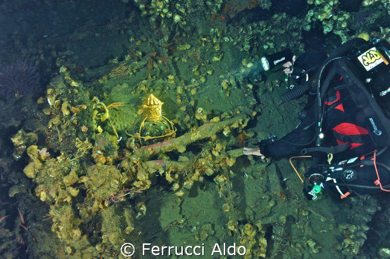 San Marco Wreck in Villasimius Sardinia Italy. We found ... by Ferrucci Aldo