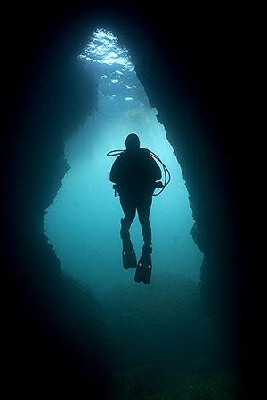 Anchor Bay Cave, Malta by James Dally