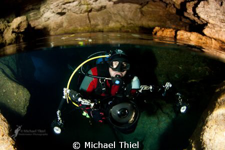 Cavediver  (another version of the image) by Michael Thiel