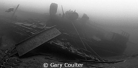 Panorama of the 216' Forest City sunk in 1904 at a depth ... by Gary Coulter