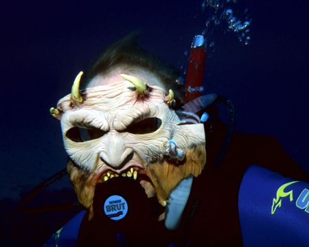 Devil fish. Seen on a Halloween night dive off Sunset Hou... by Michael Canzoniero