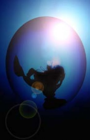 """Caught in a bubble""