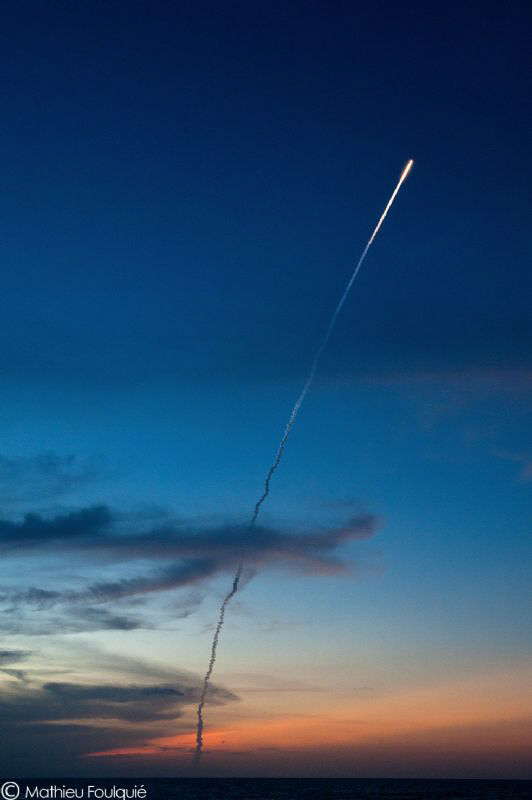 european Ariane rocket blasts off in French Guiana. from ... by Mathieu Foulquié