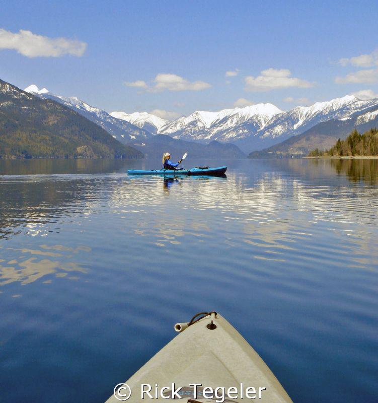 Late fall kayaking - Slocan Lake, British Columbia by Rick Tegeler