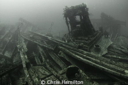 The S.S. Bohemain struck a ledge in a storm and broke up ... by Chris Hamilton