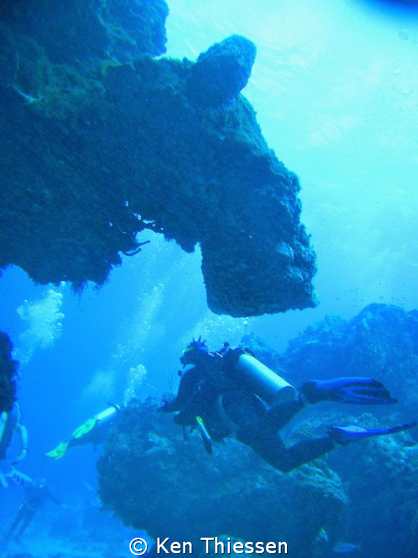 Where divers come from. . . the diver spout. by Ken Thiessen