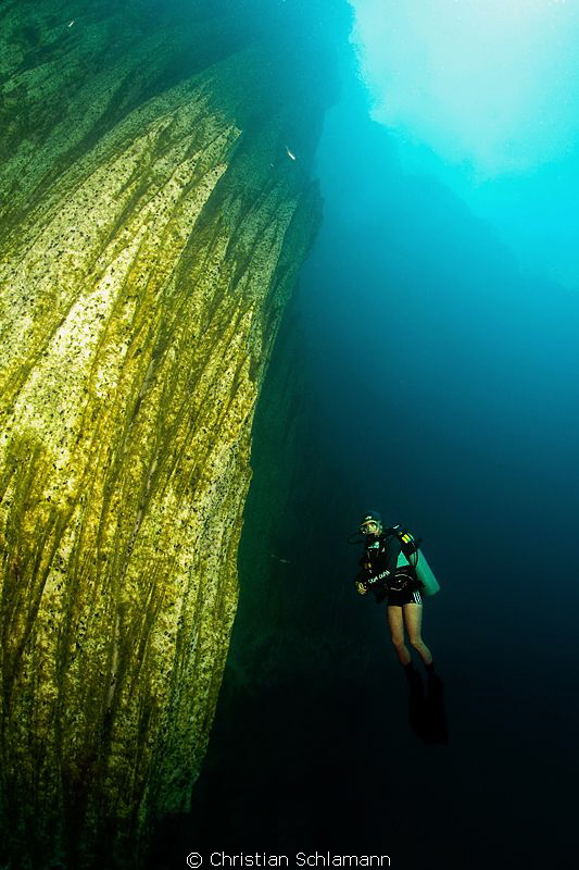 At 15 m in the barracuda lake, coron, philippines. Where ... by Christian Schlamann