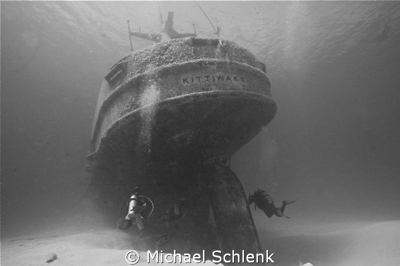 A recent dive on the USS Kittiwake...natural light photo by Michael Schlenk