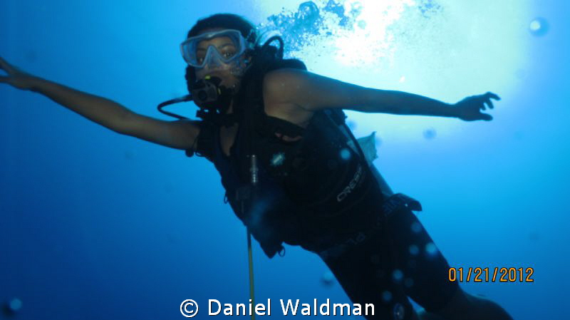 Jamaican Mermaid Diver by Daniel Waldman
