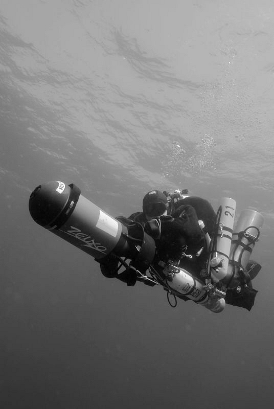 Tec Diver in the end of the dive by Andreas Kutsch