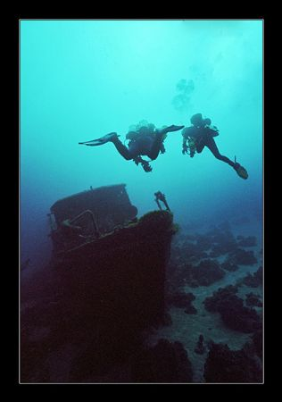Bow section of the Yealat, Eilat. Depth 45m (150ft) by Johannes Felten