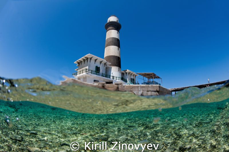 Lighthouse on Big Brother Island by Kirill Zinovyev 