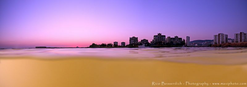 over/under panorama shot : City of Izmir by Rico Besserdich