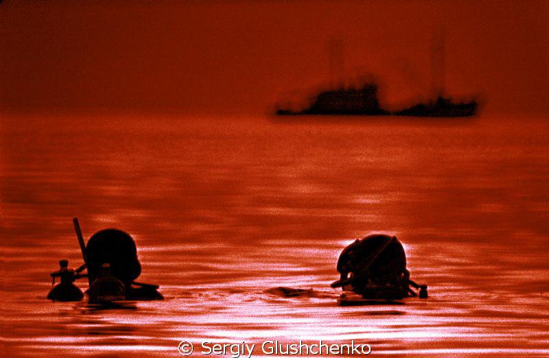 diving at sunset by Sergiy Glushchenko