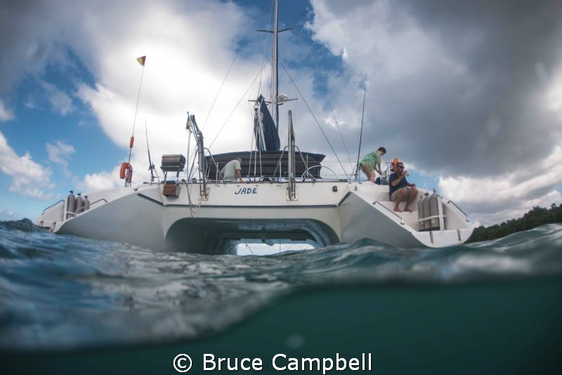 Waiting for the storm to clear.  Started a dive in Tobago... by Bruce Campbell