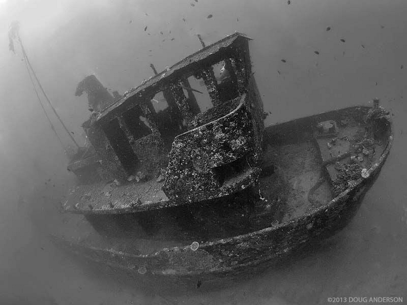 Tugboat wreck. Sabang Bay, Pulau Weh by Doug Anderson
