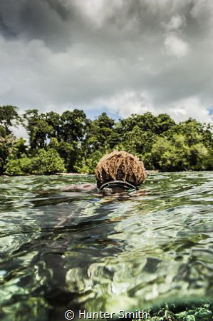 Diving from Lissenung Resort PNG, 10 year old Gabriel fro... by Hunter Smith