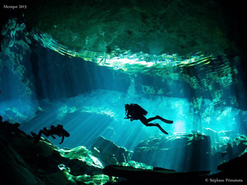 Cenote lighting by Stéphane Primatesta