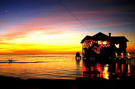 roatan, honduras. december 30 sunset,my last one of the y... by Shawn Jackson