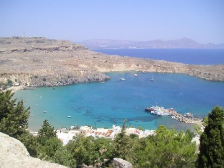A view from the Lindos acropolis, the island of Rhodes by Gordana Zdjelar