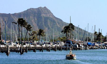 Waikiki Boat Harbor shot last Thursday. by Glenn Poulain