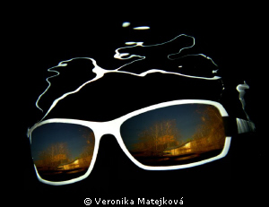 Sunglasses under water